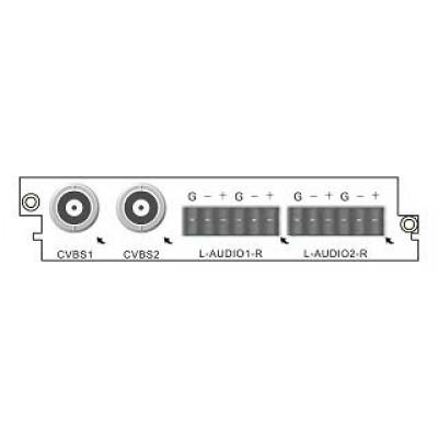 C101A Карта двухканального MPEG-2/SD энкодера с аналоговыми входами
